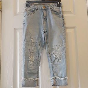 Zara boys distressed jeans